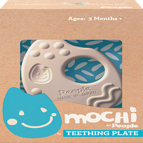 Ngậm nướu bằng gạo Mochi Teething Plate Natural - People KM003